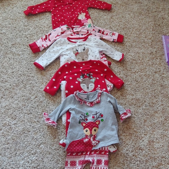 carters Other - Lot of 3-6 months Holiday Themed PJ's